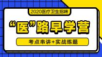 """2020医疗卫生招聘""""医""""路早学营"""
