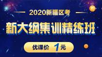 2020新疆区考新大纲集训精练班